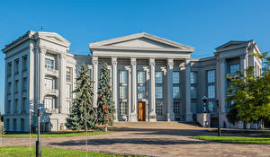 Фотографии Украина Киев Дома Музеи Уличные фонари National Museum of the History of Ukraine город