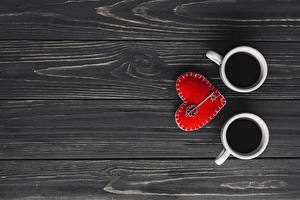 Картинки День святого Валентина Кружки Серце Доски Шаблон поздравительной открытки Ключа Еда