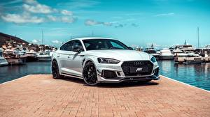Картинка Audi Пристань Белые Металлик RS5, ABT, Sportback, RS5-R, 2019