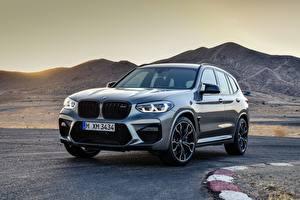 Обои BMW Горы Серая Металлик Кроссовер X3M, F97, Competition автомобиль