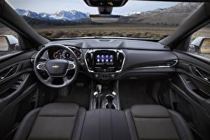 Обои Chevrolet Салоны Интерьер Кроссовер High Country, Traverse, 2021 машины