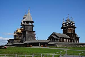 Фотографии Церковь Россия Музеи Деревянный Kizhi, Karelia город
