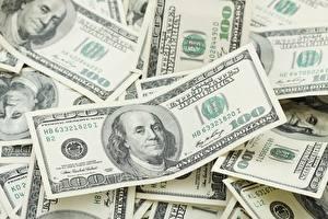 Фотография Доллары Банкноты Деньги Много 100