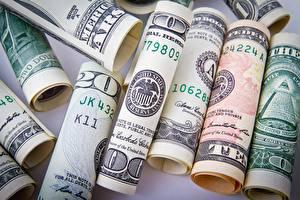 Фото Доллары Деньги Много Банкноты