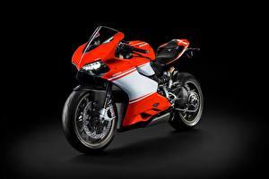 Фотографии Ducati На черном фоне Сбоку Superleggera, 1199 мотоцикл