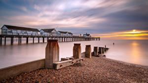 Фотография Англия Рассвет и закат Море Пирсы Southwold Pier