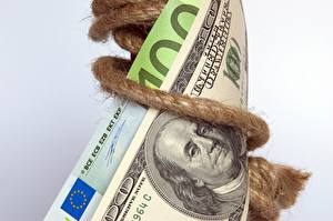 Фото Евро Доллары Деньги Банкноты