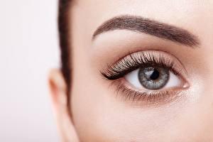 Картинка Глаза Ресницы Вблизи Мейкап Красивые eyebrows Девушки