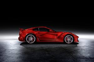 Обои Ferrari Тюнинг Купе Красных Металлик Сбоку Mansory, Berlinetta, F12, 2013, La Revoluzione авто