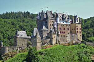 Картинка Германия Замок ELZ Castle, Rhineland-Palatinate Города