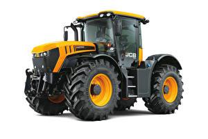 Фото Тракторы Желтая Белом фоне JCB, Fastrac 4220