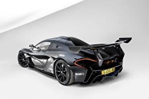 Фото McLaren Черная Вид сзади GTR Road by Lanzante Автомобили