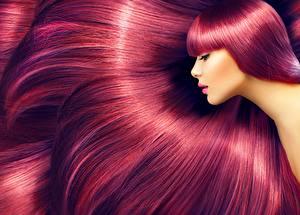 Фото Фотомодель Макияж Красивые Волосы молодые женщины