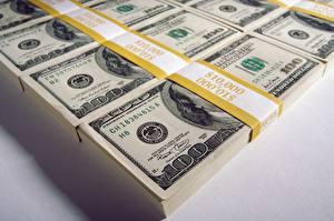 Картинка Деньги Доллары Банкноты Лента 100