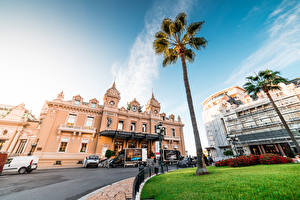 Обои Монте-Карло Монако Здания Казино Пальма город