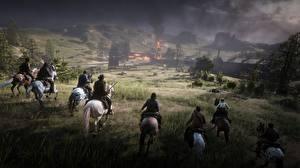 Фотография Red Dead Redemption 2 Лошадь 3D_Графика