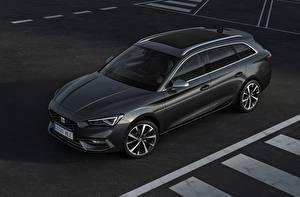 Обои Сиат Универсал Черных Металлик Leon ST, 2020 Автомобили