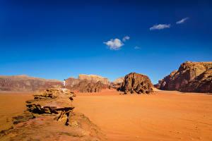 Картинки Небо Пустыня Горы Песка Wadi Rum Village, Jordan