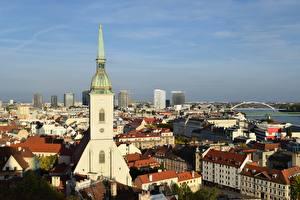 Фотографии Словакия Церковь Здания Bratislava