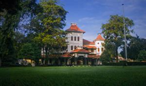 Фото Шри-Ланка Дома Газон Деревья University of Colombo