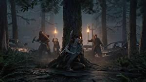 Фото The Last of Us 2 Ствол дерева Ночные Ellie