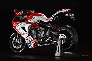 Картинки Тюнинг Черный фон 2016 MV Agusta F3 800 RC Мотоциклы