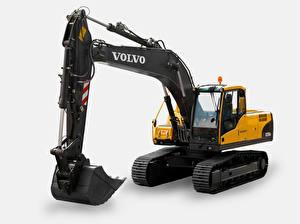 Картинки Volvo техника Экскаватор Желтая Черная EC235C NL