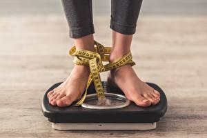 Фото Диета Ноги Измерительная лента weighing