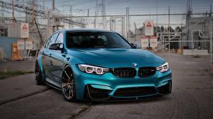 Фотографии BMW Металлик Голубой M3 Автомобили