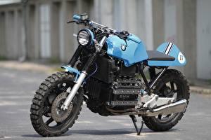 Фотография BMW - Мотоциклы Тюнинг Голубой Сбоку K100 RS Custom