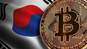 Картинки Bitcoin Южная Корея Флага