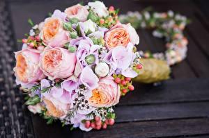 Обои Букет Крупным планом Свадьба Цветы