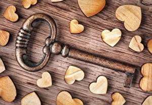 Обои Крупным планом День святого Валентина Сердце Замковый ключ Еда картинки