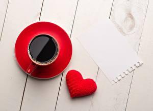 Картинка Кофе Чашке Сердце Шаблон поздравительной открытки Доски Еда