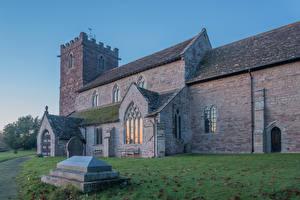Картинка Англия Храм Церковь Almeley Church город