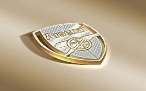Картинка Футбол Англия Логотип эмблема Цветной фон Arsenal FC Спорт