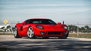 Фото Ford Красные Металлик GT, Sport Car авто