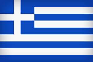 Обои для рабочего стола Греция Флаг