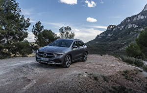 Обои Mercedes-Benz Серая 2020 GLA 220 d 4MATIC Progressive Line Worldwide машины