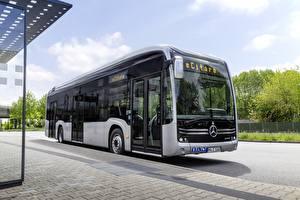 Фотография Mercedes-Benz Автобус Серебристая eCitaro автомобиль
