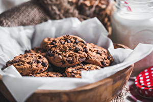 Фотография Выпечка Печенье Шоколад Боке Продукты питания