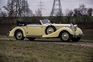 Картинки Винтаж Кабриолета Сбоку Horch 853 Sport Cabriolet, 1935–37 Автомобили