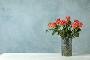 Картинки Роза Букеты Вазы Шаблон поздравительной открытки