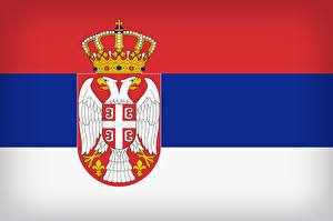 Обои Сербия Флаг