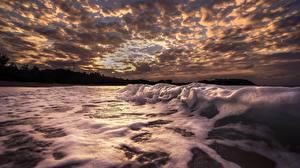 Фотография Небо Волны Море Облачно Пене Природа