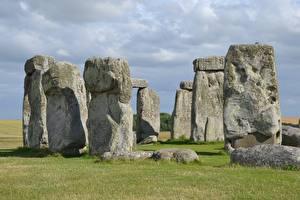 Обои Камень Памятники Англия Stonehenge, Wiltshire Природа