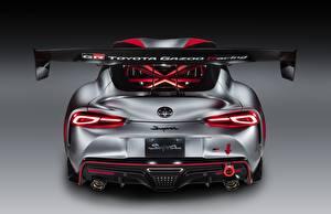 Фото Тойота Купе Серый Вид сзади GR Supra Track Concept, 2020 автомобиль