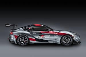Обои Тойота Купе Серая Сбоку GR Supra Track Concept, 2020 авто