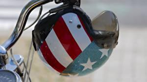 Картинки Штаты Вблизи Флага В шлеме мотоцикл