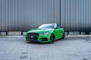 Картинка Audi Зеленых ABT Sportback RS3 машины
